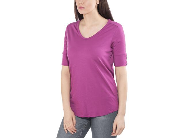 Royal Robbins Merinolux V-hals T-shirt Dames, roze
